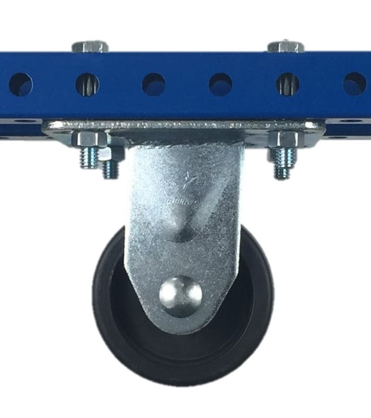 "3"" Polyolefin Rigid Plate Caster - 500 lb Weight Limit"