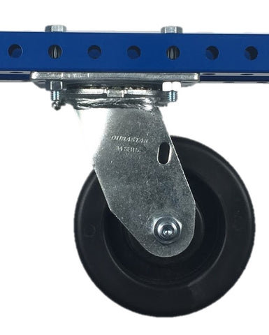"6"" Polyolefin Swivel Plate Caster - 750 lb Weight Limit"