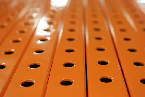 "1"" x  1"" Perforated Steel Tubing - Orange"