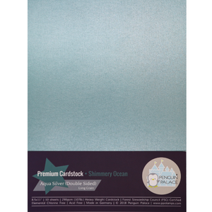 Shimmery Ocean - Heavy Weight Premium Cardstock (Double Sided)