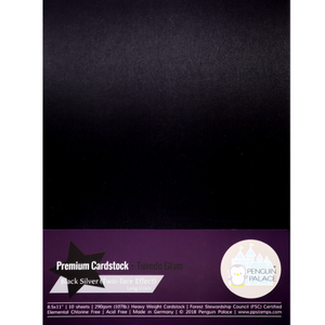 Tuxedo Glam - Heavy Weight Premium Cardstock (Double Sided)