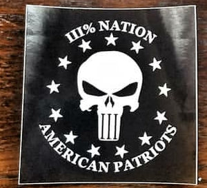 Three Percent Nation Stickers- 1 Pack