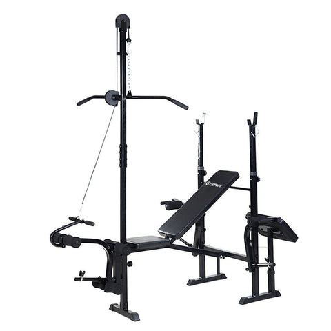Home Gym | Barbell Racks, Lateral Bar, Preacher Curl, Leg Extensions-Home Gyms-Ambitious Athletic Goods
