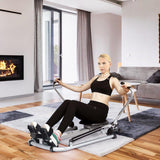 Rowing Machine | Up To 200 Lbs Of Hydraulic Resistance-Rowing Machines-Ambitious Athletic Goods