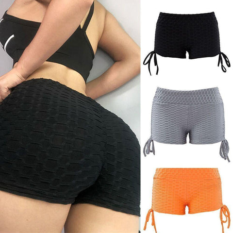 Women's Solid Textured Exercise Shorts - 3 Colors-Women's Shorts-Ambitious Athletic Goods