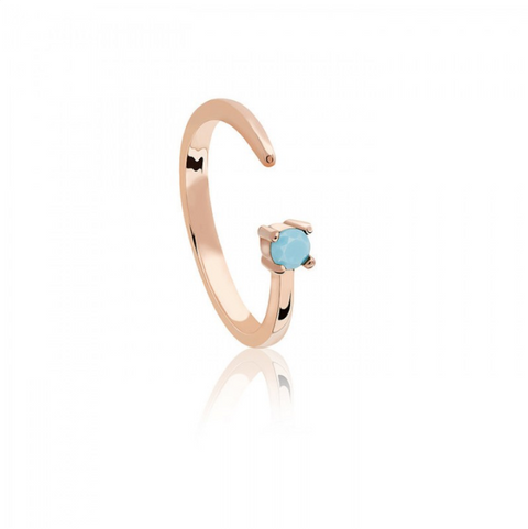 Sagittarius Zodiac Ring in Rose Gold