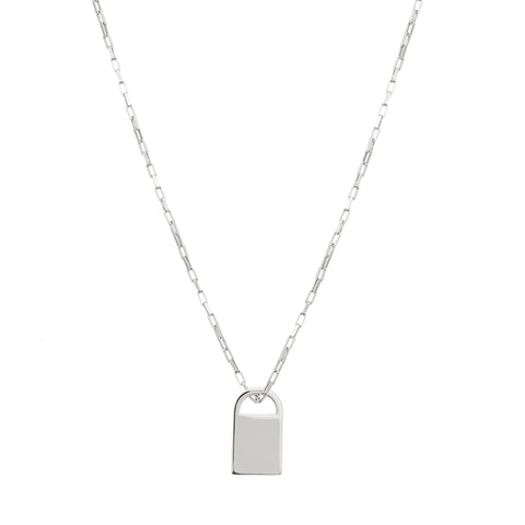 padlock necklace silver
