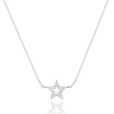 Star Necklace in Silver