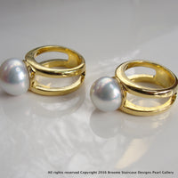 Broome South Sea Pearl Ring Gold