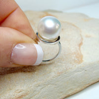 Broome Pearl Sterling Silver Ring
