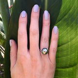 Tahitian Pearl 9ct White Gold Ring