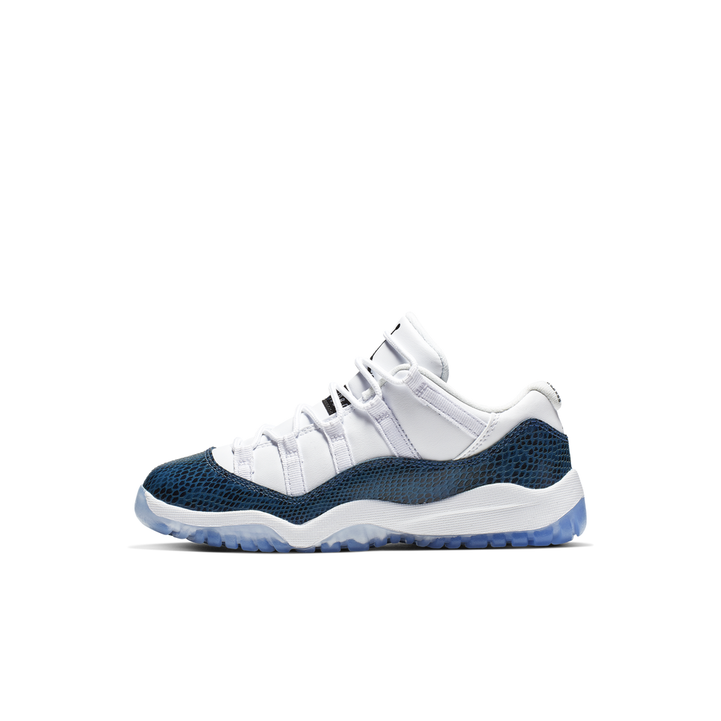 Nike Air Jordan 11 Retro Low LE (PS) Navy Snakeskin (CD6848-102)