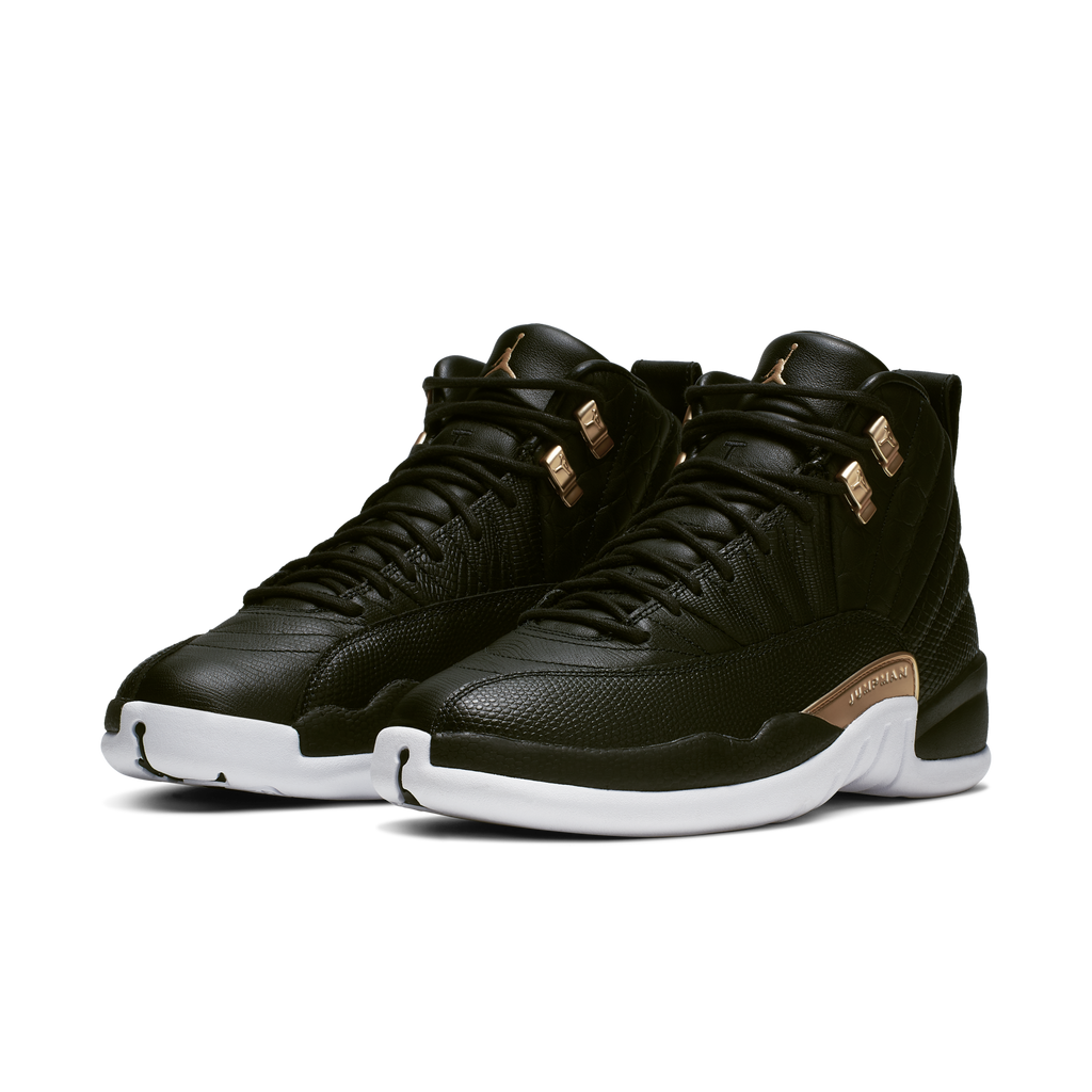 Nike Wmns Air Jordan 12 Retro Reptile Black Gold (AO6068-007)