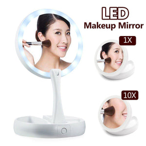 10X Magnification LED Mirror