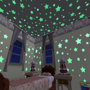 100 pieces Glow in the Dark Stars Stickers