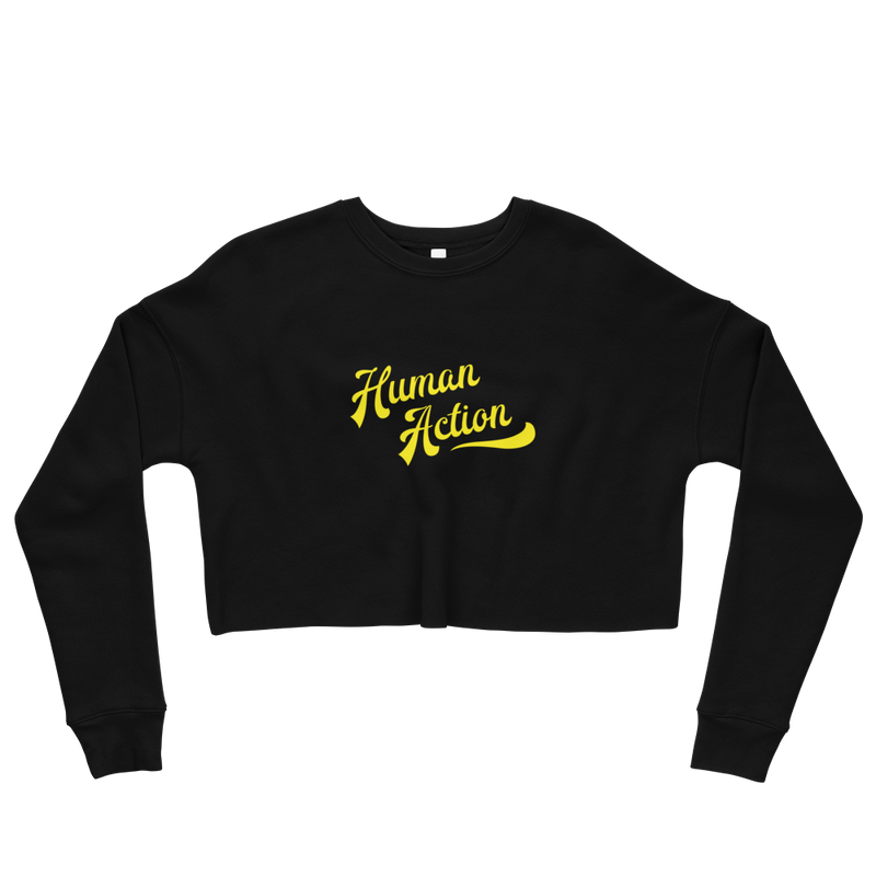 Human Action Crop Sweatshirt