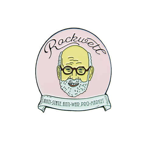 Murray Rothbard enamel pin