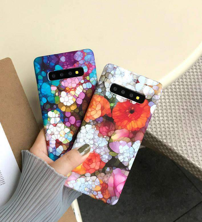 Colorful Frosted Full Cover Samsung Case