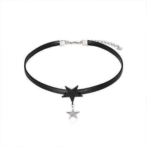 Double Stars Choker Necklace