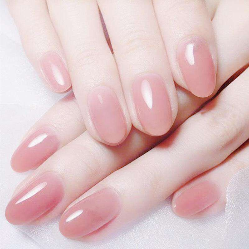Lovely Pink Magic Press Nail Manicure