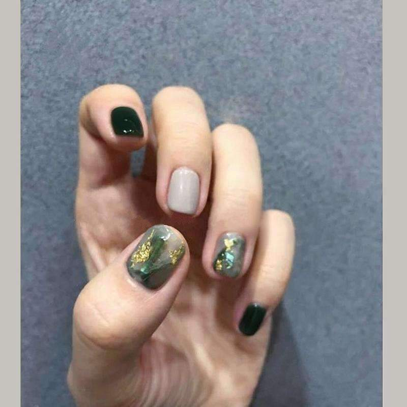 Glitter Foil Jasper Magic Press Nail Manicure