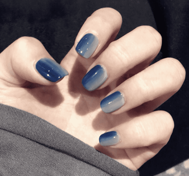 Joint Color Blue N White Magic Press Nail Manicure