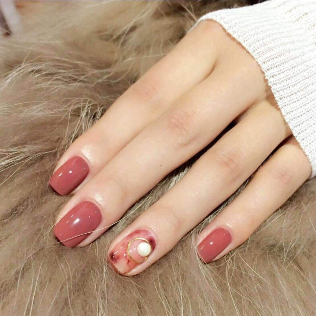Valentine Pink Magic Press Nail Manicure