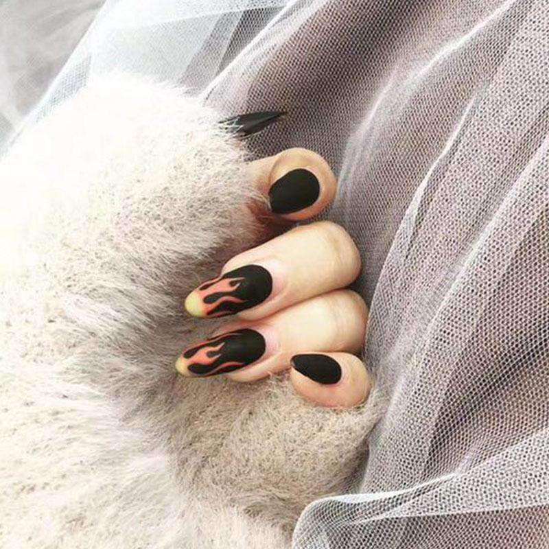Hot As Fire Magic Press Nail Manicure