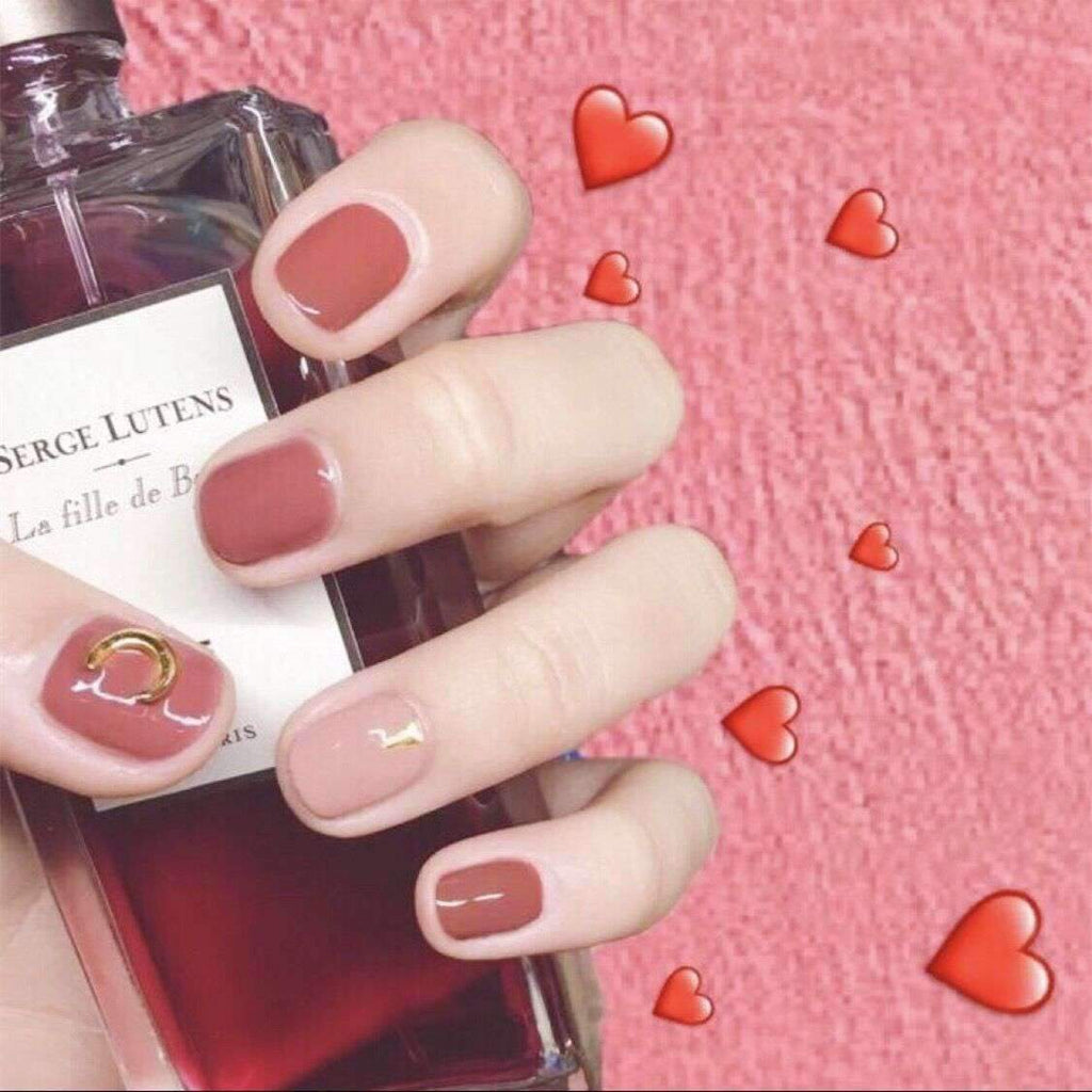 Pink Moon Magic Press On Nail Manicure