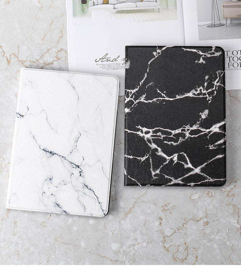 Vintage Marble Texture Stand Flip Tablet Case Cover for Apple iPad