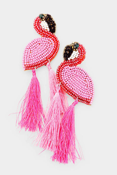 Extra Flamingo Earrings