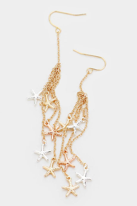 Raining Starfish Earrings