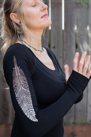 Leom Feathered Quill Ninja Top
