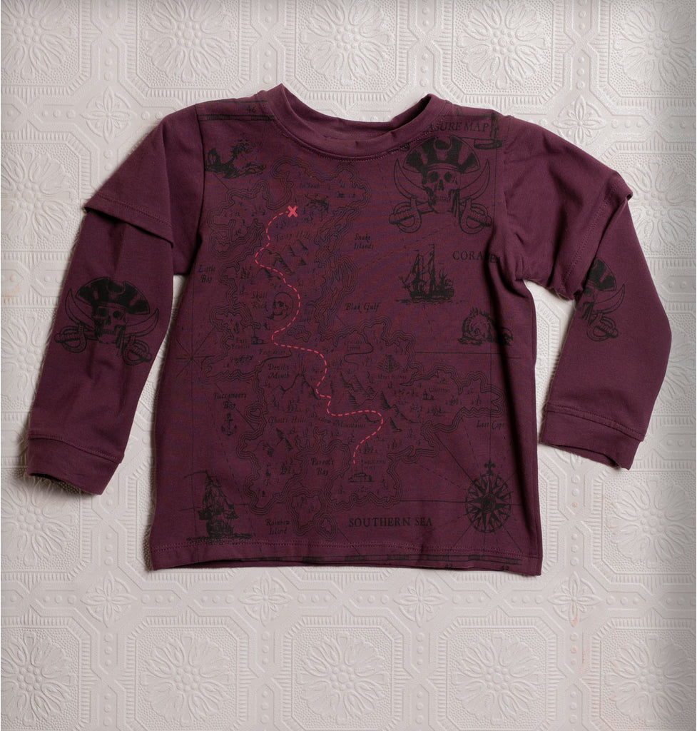 Organic Adventure T's - Maroon Pirate