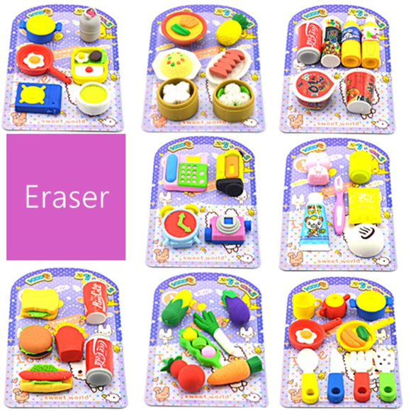 Cartoon Food Eraser