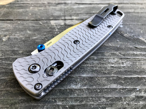Titanium Critter Scales for Benchmade Bugout 535 - Gray Blasted
