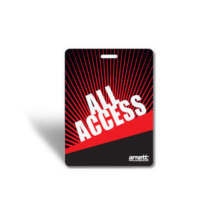 Laminated event badge All Access Pass - Red