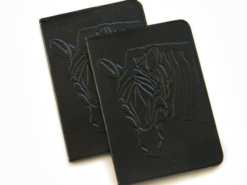 Cruelty-Free Leather Passport Covers - Black