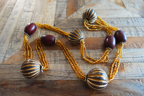 Wood & Bead Necklace