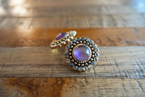 Regal Purple Stud Earrings