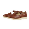 Rosie T-bar Shoe Chestnut Brown Leather | Teen