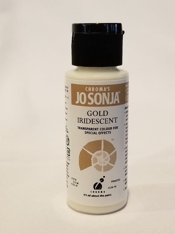 Jo Sonja's Iridescent Colors - Iridescent Gold 2oz Bottle