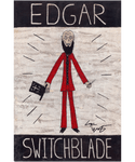 Edgar Switchblade Folk Art Print