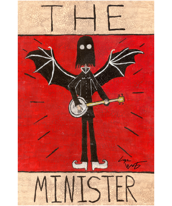 The Minister Folk Art Print