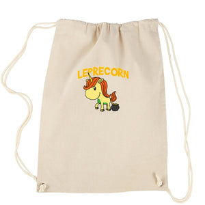 Leprecorn Unicorn Leprechaun Drawstring Backpack