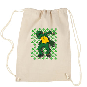 St Patricks Day Dab Drawstring Backpack