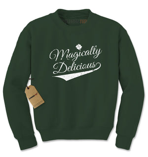 Magically Delicious Shamrock Adult Crewneck Sweatshirt