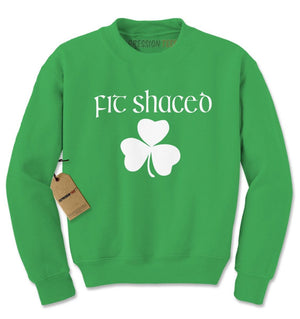 Fit Shaced Shamrock St. Patrick's Day Adult Crewneck Sweatshirt