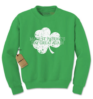 Make St. Patrick's Day Great Again Adult Crewneck Sweatshirt