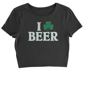 I Shamrock Beer St. Paddy's Day Cropped T-Shirt